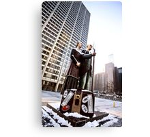Chicago Downtown City  Night Photography Wrigley Square American Gothic Canvas Print