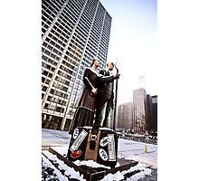Chicago Downtown City  Night Photography Wrigley Square American Gothic Photographic Print