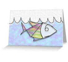 Wire Fish Greeting Card