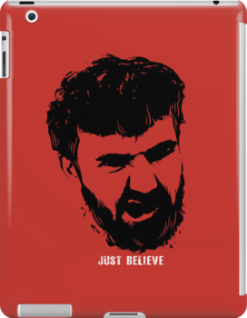 Just Believe - a random t-shirt with my boyfriend's face by BootsBoots