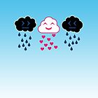 Rain and Heart Clouds by Sonic-Jutsu