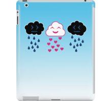 Rain and Heart Clouds iPad Case/Skin
