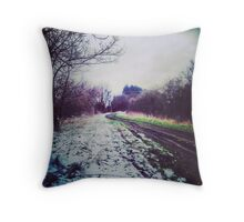 Snow making Mud Throw Pillow
