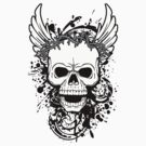 skull and wings by tshart