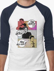 Insults! Men's Baseball ¾ T-Shirt