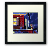 CHRISTMAS CHARLIE BROWN HOME ALONE Framed Print