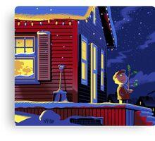 CHRISTMAS CHARLIE BROWN HOME ALONE Canvas Print
