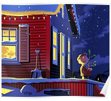 CHRISTMAS CHARLIE BROWN HOME ALONE Poster