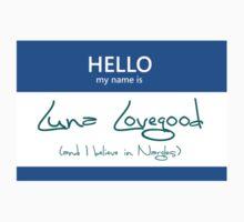 Luna Lovegood Name Tag by Kristina Moy