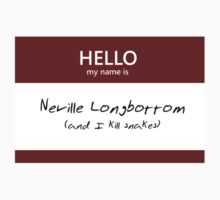 Neville Longbottom Name Tag by Kristina Moy