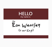 Ron Weasley Name Tag by Kristina Moy