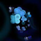Blue butterflies by CatchyLittleArt