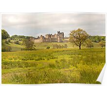 Alnwick castle in Northumberland Poster