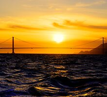 Golden Gate Sunset  by Rob Hawkins