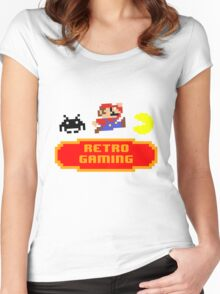 Retro Gaming Women's Fitted Scoop T-Shirt