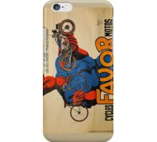 French Vintage Motorcycle Poster iPhone Case/Skin