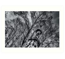 Column among trees Art Print