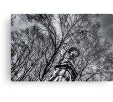 Column among trees Metal Print