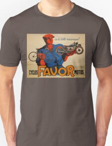 French Vintage Motorcycle Poster Unisex T-Shirt