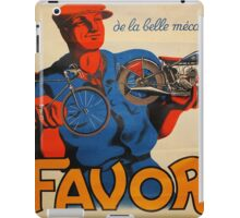 French Vintage Motorcycle Poster iPad Case/Skin