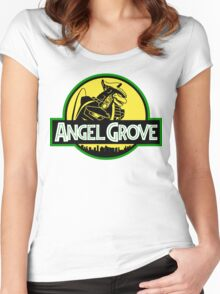 Angel Grove: Dragonzord Women's Fitted Scoop T-Shirt