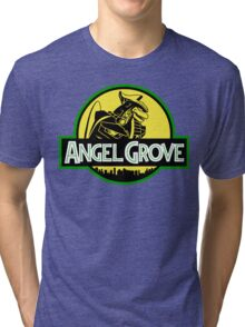 Angel Grove: Dragonzord Tri-blend T-Shirt