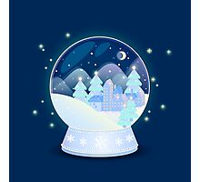 Christmas snow globe  Photographic Print