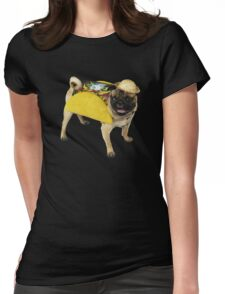 pug taco Womens Fitted T-Shirt