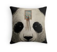 Panda window cleaner 03 Throw Pillow