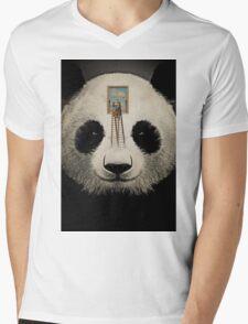 Panda window cleaner 03 Mens V-Neck T-Shirt