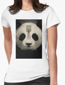 Panda window cleaner 03 Womens Fitted T-Shirt