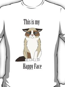 Happy Face - Grumpy Cat T-Shirt