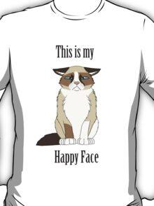 Happy Face - Grumpy Cat T-Shirt