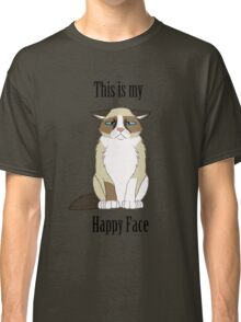 Happy Face - Grumpy Cat Classic T-Shirt