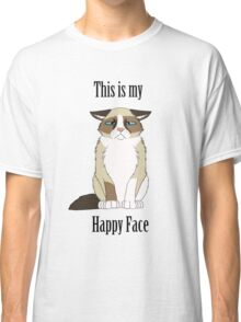 Happy Face - Grumpy Cat Classic T-Shirt
