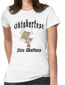Oktoberfest Size Matters Womens Fitted T-Shirt