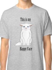 Happy Face - White Cat Classic T-Shirt