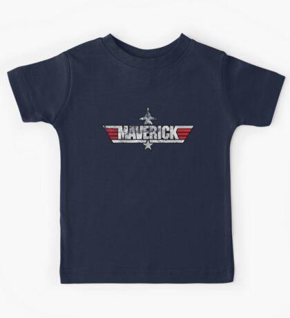 Custom Top Gun Style - Maverick Kids Tee