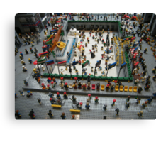 Lego Rockefeller Center Skating Rink,  Rockefeller Center Lego Store, New York City Canvas Print