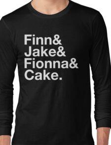 Finn & Jake & Fionna & Cake (white type) Long Sleeve T-Shirt