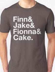 Finn & Jake & Fionna & Cake (white type) T-Shirt