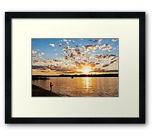 Pirate Fishing Framed Print