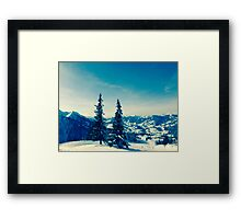 There is always snow on a mountain  Framed Print