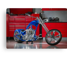 George's Custom Chopper 'Pitbull' Canvas Print