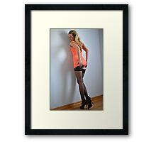 Squeezing your feelings Framed Print