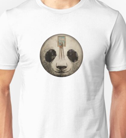 Panda window cleaner 02 Unisex T-Shirt