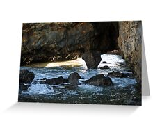 Mountains and Volcano crater at Secret Cove of Palos Verdes, CA Greeting Card