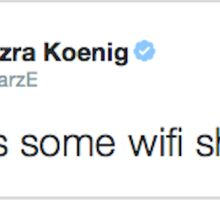 Ezra Koenig tweets about introverted internet Sticker