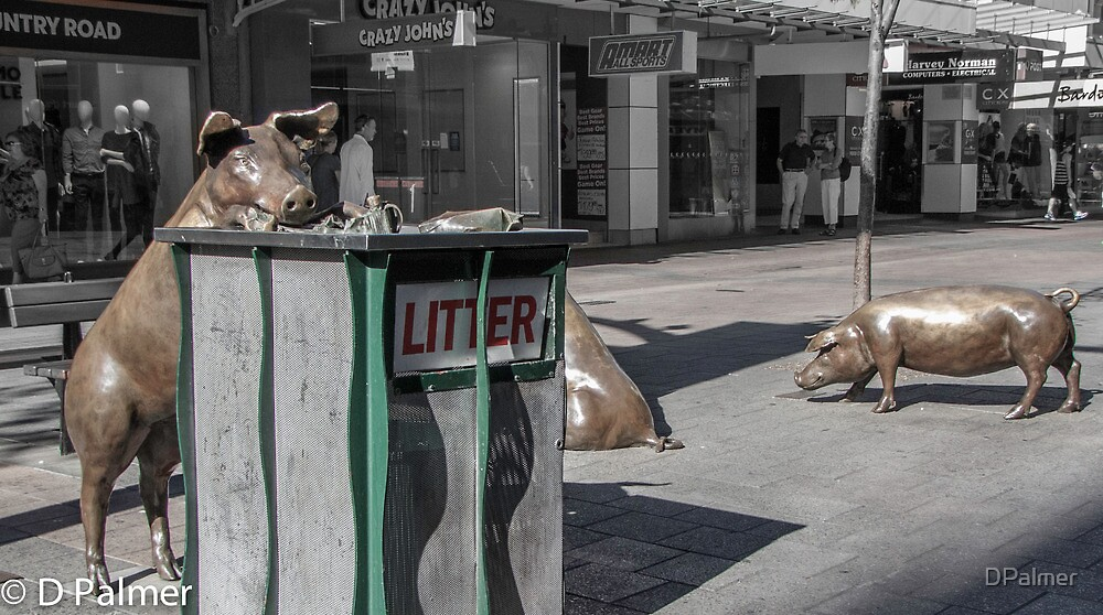 Rundle Mall - Rundle Mall Pigs   by DPalmer