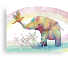 The Indigo Elephant Metal Print